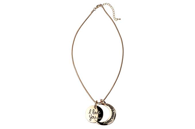Stylish 'I love you to the moon and back' Necklace
