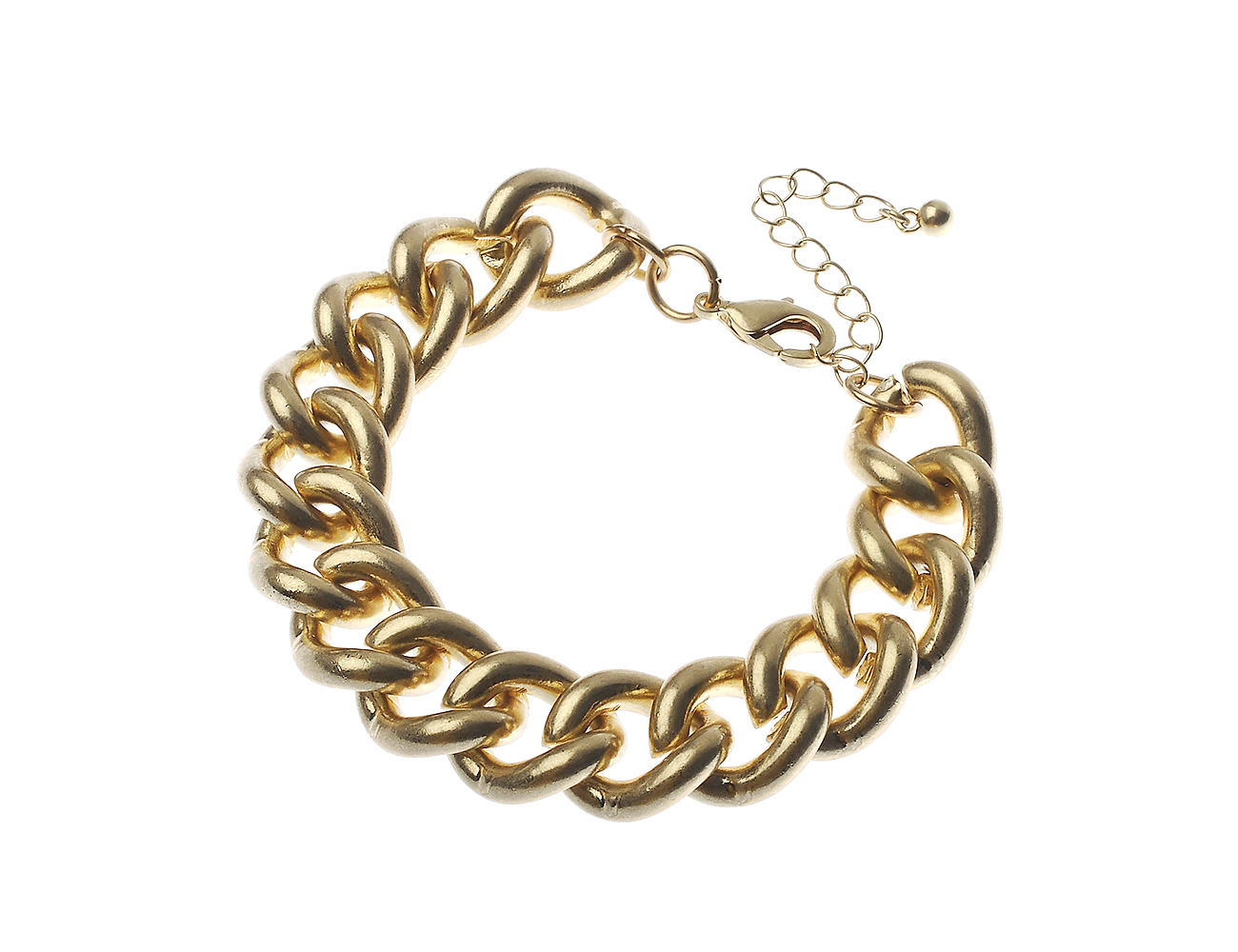 Worn Gold Curb Chain Bracelet