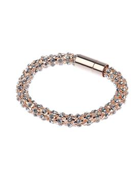 Rose Gold Crystal Bracelet With Magnetic Clasp