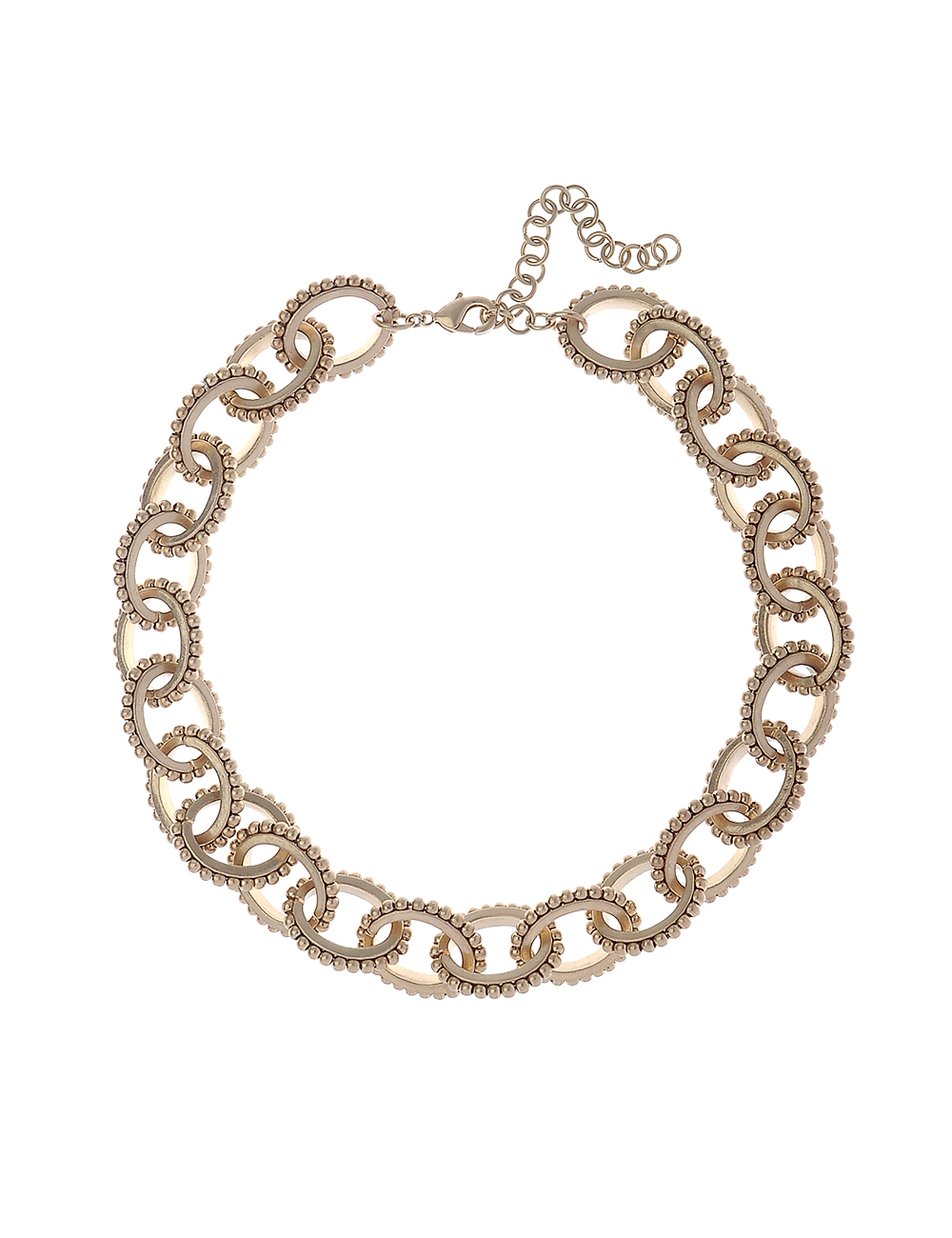 Worn Gold Link Chain Necklace