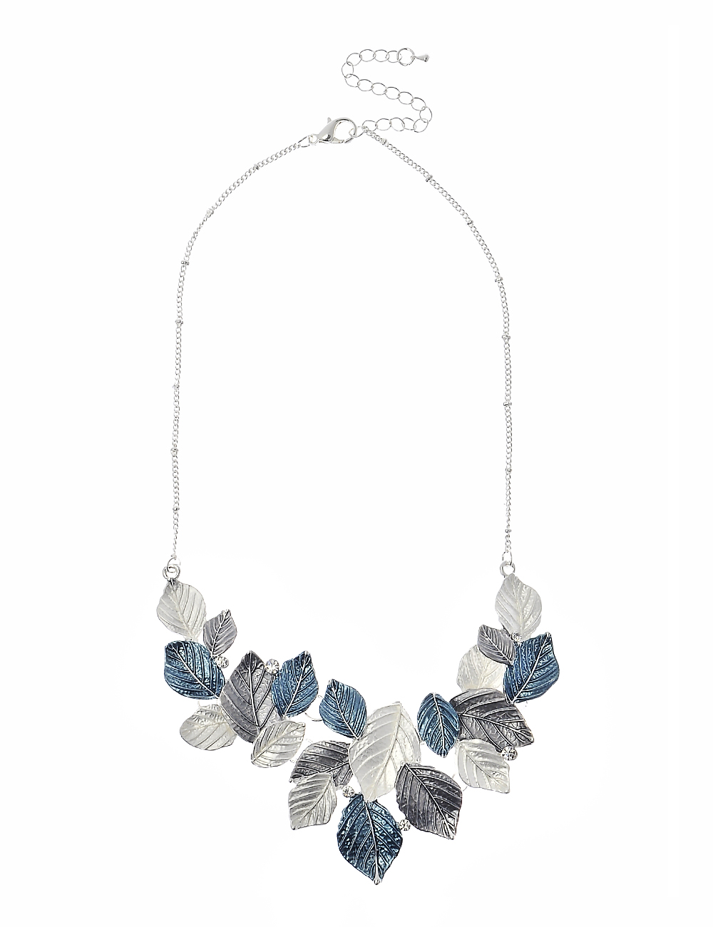 3 Tone Leaf Style Necklace